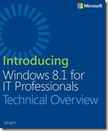 Free eBook: Introducing Windows 8.1 for IT Professionals