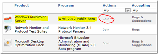 WMS 2012 Public Beta
