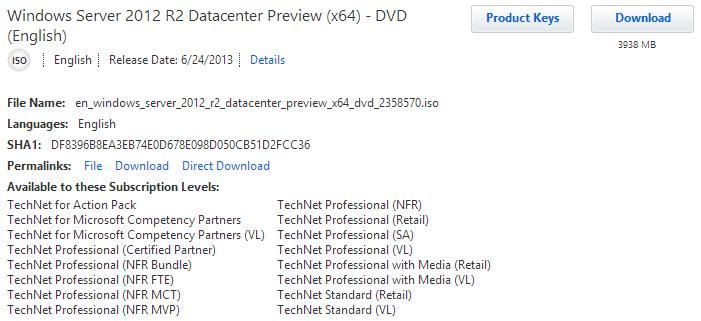 Download – Windows Server 2012 R2 Preview – NoGeekLeftBehind com