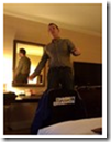 Nick Whittome in the hotel room