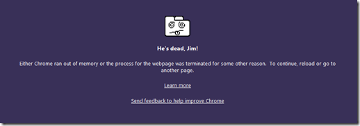 Google Chrome error