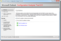 Microsoft Outlook Configuration Analyzer Tool 2.0