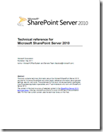 Technical Reference for Microsoft SharePoint Server 2010