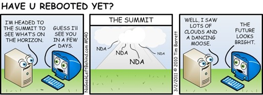 Have U Rebooted Yet? 040 - The Summit (NDA means Non Disclosure Agreement)