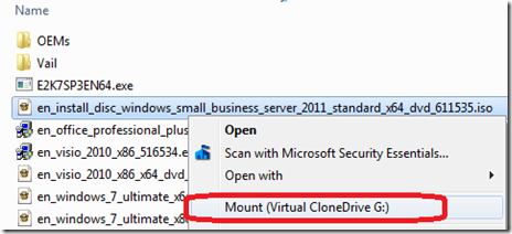 Mount the ISO as a virtual drive (I'm using Virtual CloneDrive)