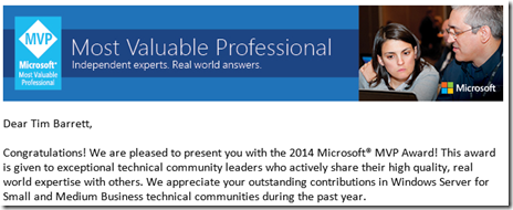 Microsoft Most Valuable Professional (MVP) Award - 2014