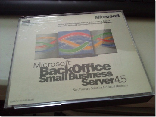 Microsoft BackOffice Small Business Server 4.5