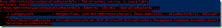 PowerShell FSMO role transfer message
