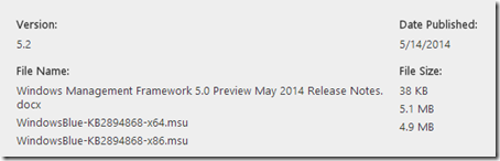 Windows Management Framework 5.0 Preview May 2014