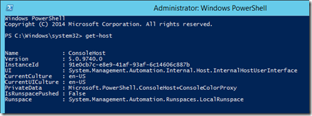 PowerShell 5.0 Preview May 2014
