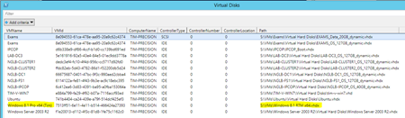 PowerShell - list of virtual hard disks per VM