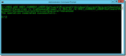 REG ADD via command prompt