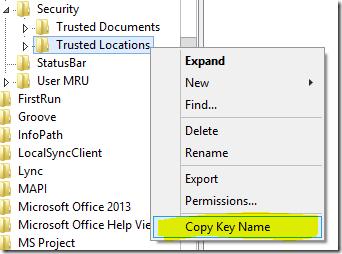 Copy Key Name
