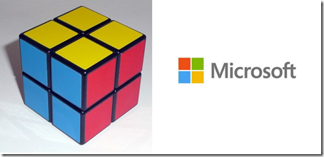 The new Microsoft logo totally looks like a Rubik's 2x2 cube