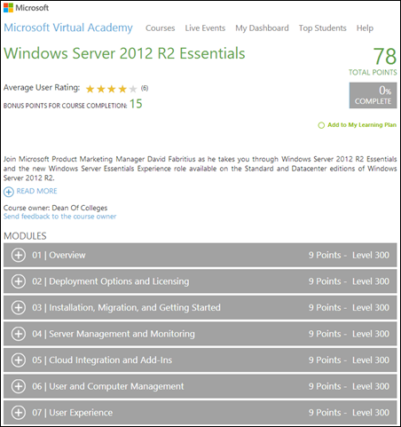 MVA - Windows Server 2012 R2 Essentials