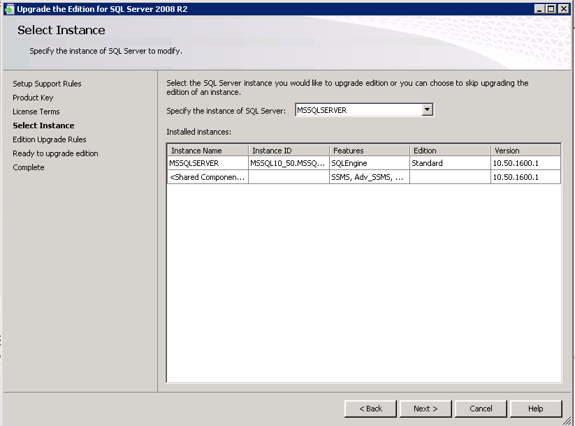 Question on activating SQL Server 2008 r2 trial