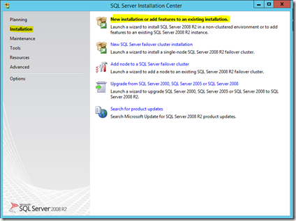New installation of SQL on the Hyper-V VM (temporary