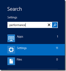 "Click Start, type ""performance"" and click Settings"