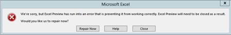 Excel 2016 fail-o-rama