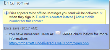 Another IM virus on Windows Live Messenger