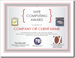 Safe Computing Award