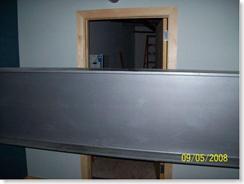 Huge I-beam in front of network closet door. Thanks Cory!