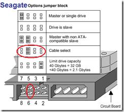 Seagate drive jumper positions