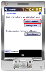 WM6.5 - Advanced / Select Networks