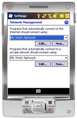 WM6.5 - My Work Network for both