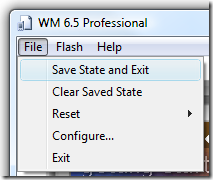 WM 6.5 - Saving State