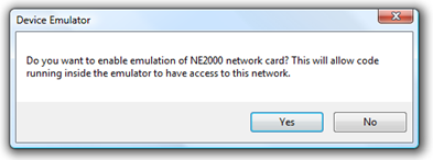 WM6.5 - Enable network card