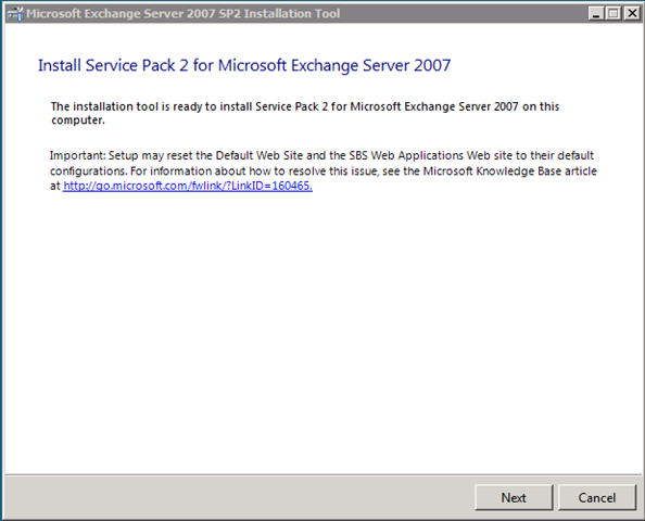 Exchange 2007 SP2 on SBS 2008 – NoGeekLeftBehind com