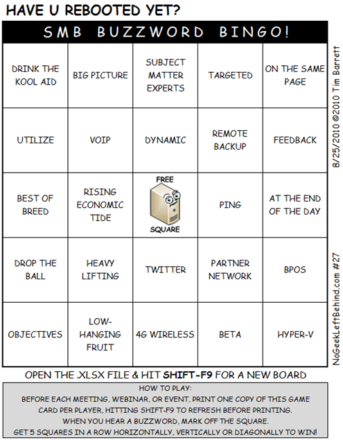 Have U Rebooted Yet? #027 - SMB Buzzword Bingo