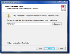 Start Menu - click Next
