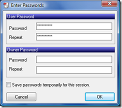 Pick a password - click OK