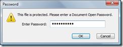 Enter password - click OK