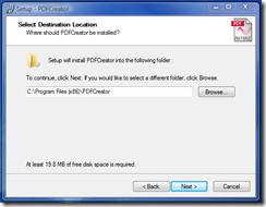 Default Installation Path - click Next