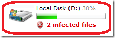 Reporting infections on drives that don't exist.