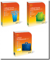 Microsoft Office 2010 Retail Packages (FPP)