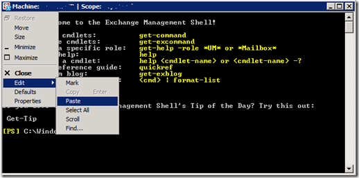 Past the cmdlet into the PowerShell window to see a list of OWA status for users