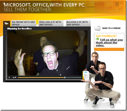 Microsoft, kicking it old school rap style
