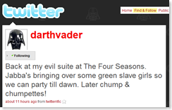 Darth Vader on Twitter