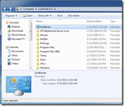 God Mode in Windows 7