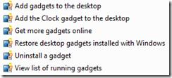 Desktop Gadgets