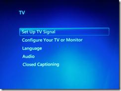 Console Windows 7 Media Center
