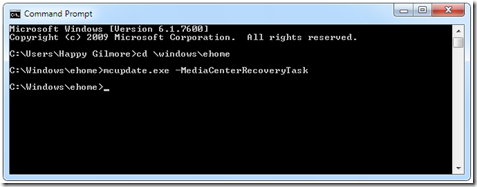 How to reset Media Center to factory defaults