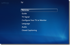Windows 7 Media Center properly configured
