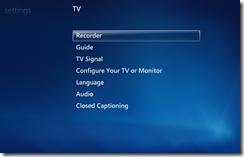 Windows 7 Media Center properly configured