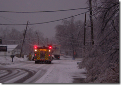 This picture was taken in front of my house the morning of 01/28/2009