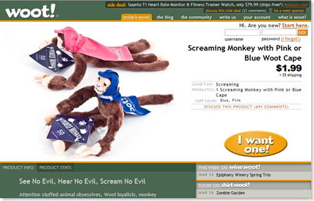 Screaming Monkey with Pink or Blue Woot Cape